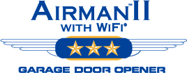 Airman II with Wifi garage door openers Logo